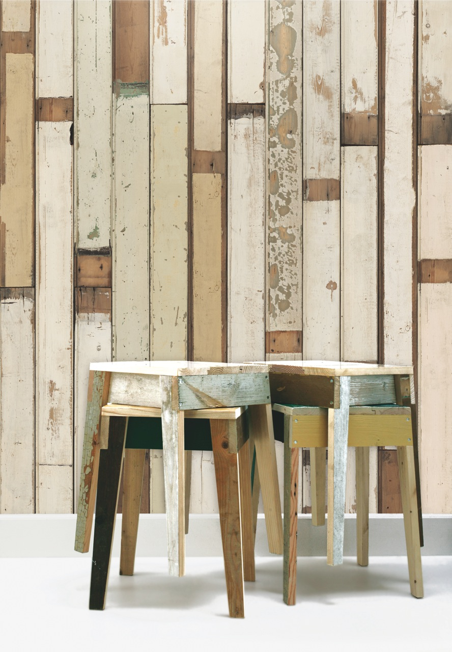 scrapwood wallpaper piet hein eek. Black Bedroom Furniture Sets. Home Design Ideas