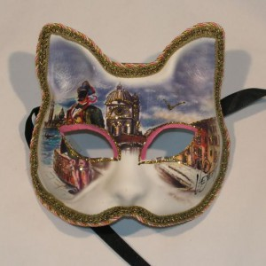 Venetiaans masker met tekening