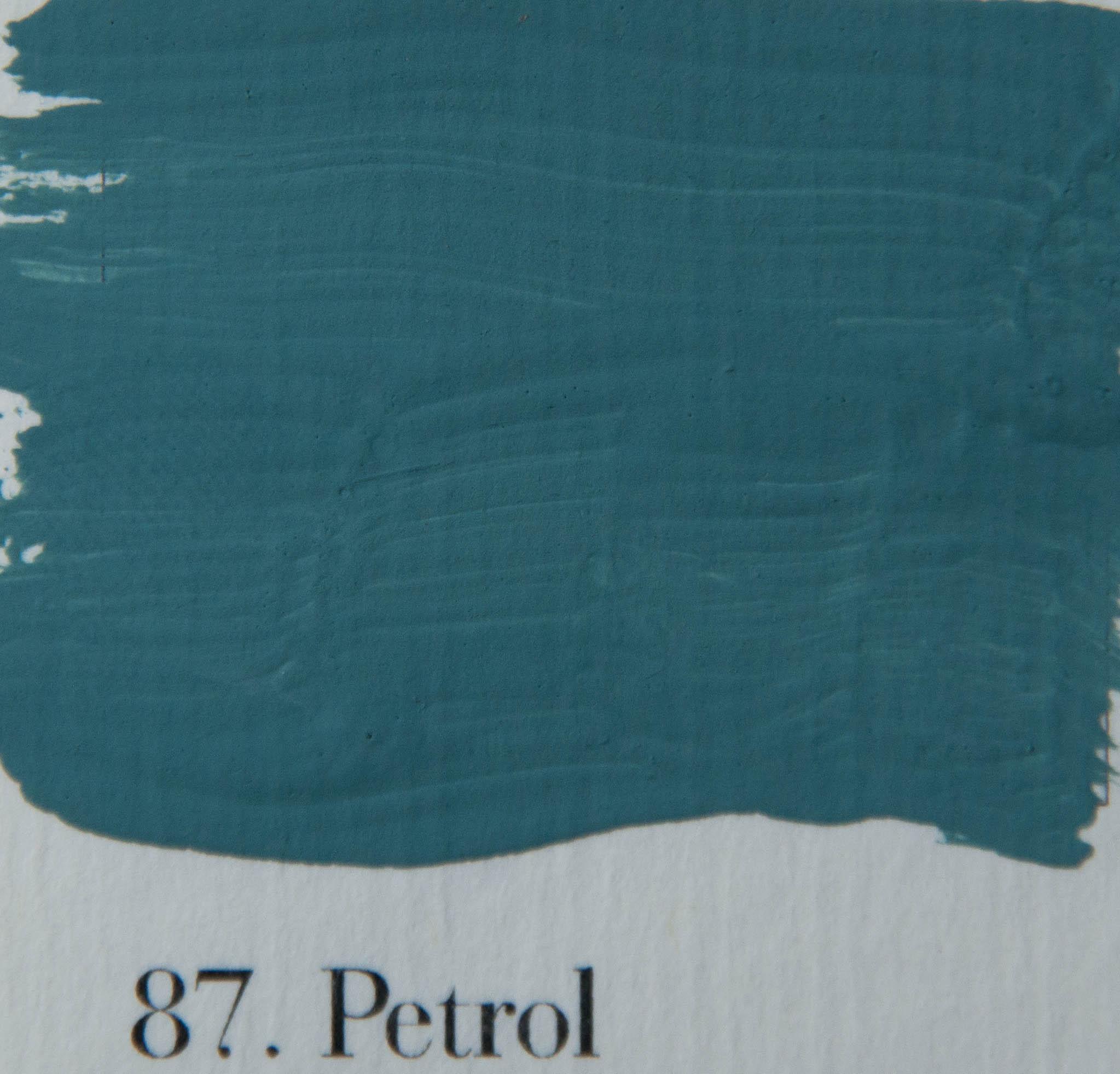 39 l authentique krijtverf kleur ijzig for Petrol verf