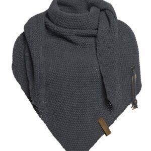 Knit Factory omslagdoek antracite 't Maaseiker Woonhuys