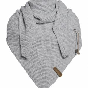 knit-factory-omslagdoek-sjaal-85x200cm-lichtgrijs 't Maaseiker Woonhuys