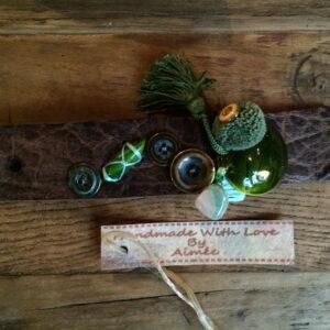 leren armband handgemaakt 't Maaseiker Woonhuys