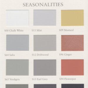 Painting the Past kleurkaart Seasonalities 't Maaseiker Woonhuys