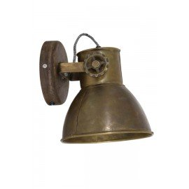 Wand/ plafondlamp antiek brons 't Maaseiker Woonhuys