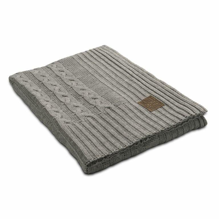 Knit Factory, plaid Eva, licht grijs