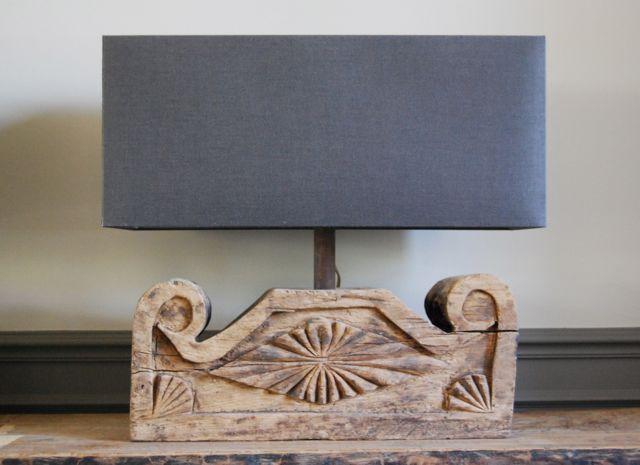 houten lampenvoet 't Maaseiker Woonhuys