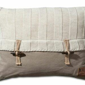 Knit Factory, kussen Rib, kleur beige