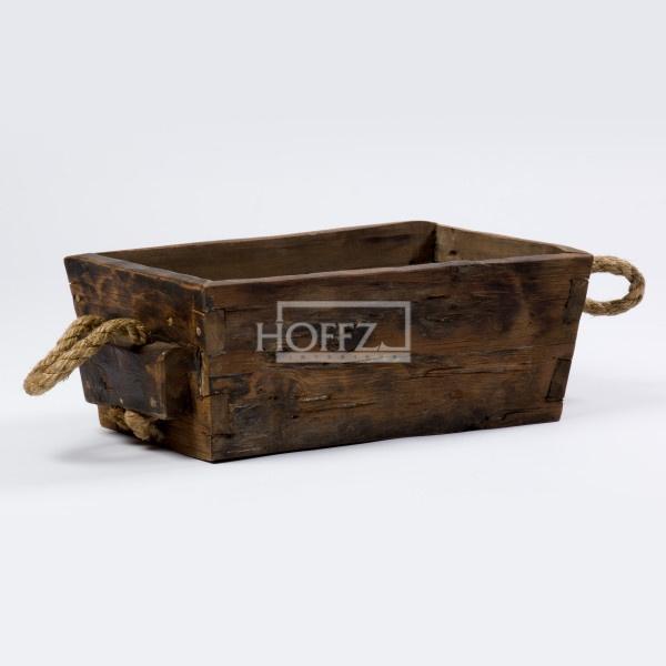Hoffz houten kist met touw