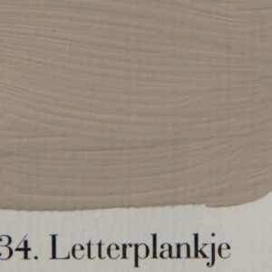 'l Authentique krijtverf 34. letterplankje