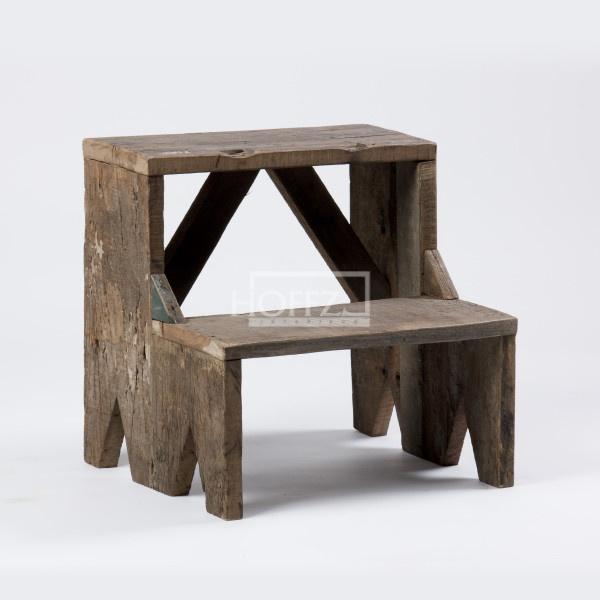 Hoffz houten bankje dubbel trede
