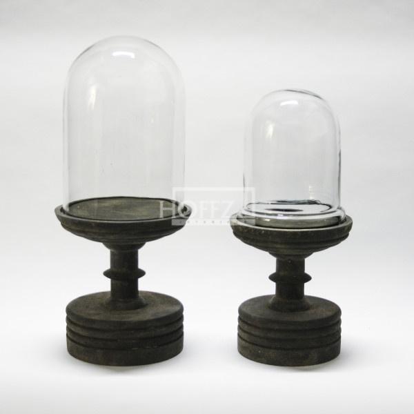 Hoffz glazen stolp op voet 't Maaseiker Woonhuys