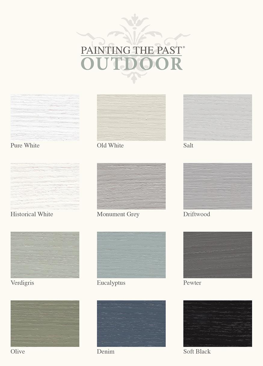 Painting the Past kleurenkaart outdoor 't Maaseiker Woonhuys
