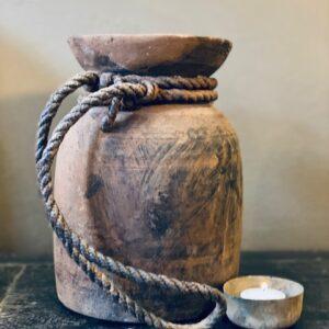 Hoffz antieke oude kruik 't Maaseiker Woonhuys